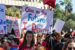Mars pour l'éducation Los Angeles photographie stock libre de droits