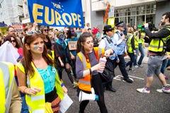 Mars pour l'Europe photos libres de droits