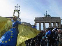 Mars pour l'Europe Berlin Photo stock