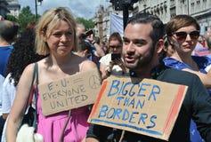 Mars pour l'Europe, Londres, en juillet 2016 BRITANNIQUE images stock