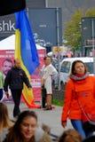 Mars pour l'union de Moldau avec la Roumanie image libre de droits