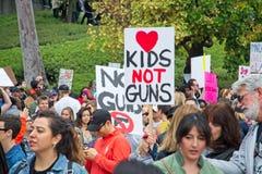 Mars pour notre marche du ` s de mouvement des vies à Los Angeles du centre Images stock