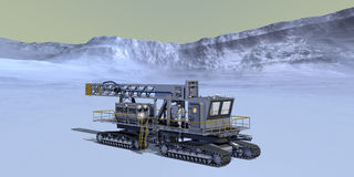 Mars Prospector Drill Rig Trailer Royalty Free Stock Photo