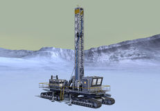 Mars Prospector Drilling Platform Royalty Free Stock Photo