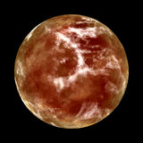 Mars the Red Planet. Mars 3d generated red planet Stock Photography