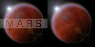 Mars The Red Planet Stock Image