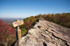 Mars Rock. On top of Pine Mountain in Kentucky Stock Photos
