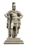 Mars, Roman god of war. Statue of Roman god of war Mars, identical to Ares in Greek mythology. Isolated on white stock images