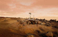 Mars Rover royalty free stock photos