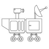 Mars rover curiosity icon Stock Image