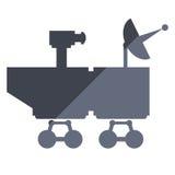 Mars rover curiosity icon. Flat design mars rover curiosity icon  illustration Royalty Free Stock Photos