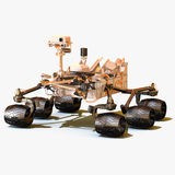 Mars Rover Curiosity. On white background stock images