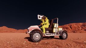 Mars rover with music