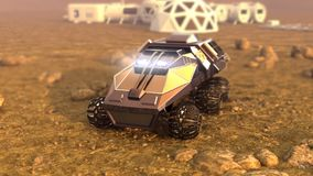 Mars Rover Space Travel Royalty Free Stock Photos
