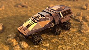 Mars Rover Space Travel Royalty Free Stock Image