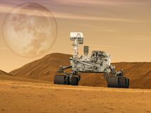 Free Mars Rovers Landed Illustration.Elements Of This Image Furnished By NASAn Stock Photography - 180220922