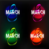 8 mars ruban Image stock