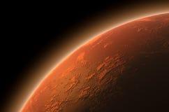Mars in Ruimte Stock Afbeeldingen