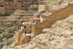 Mars Saba kloster, Israel. royaltyfri bild