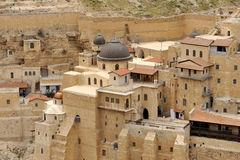 Mars Saba klosterbyggnader, Israel. arkivfoto
