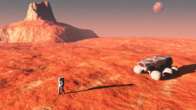 On mars Royalty Free Stock Photos