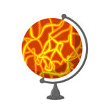 Mars School Globe. Planet geographical sphere. Model of red plan Stock Photo