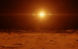 Mars Scientific illustration Royalty Free Stock Photo