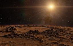 Mars Scientific illustration Royalty Free Stock Image
