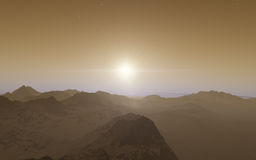 Mars Scientific illustration Royalty Free Stock Photography