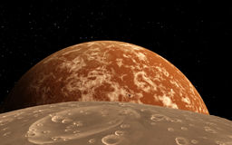 Mars  Scientific illustration -  planetary Royalty Free Stock Photography