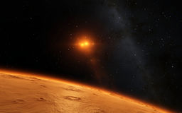 Mars  Scientific illustration -  planetary Stock Photography
