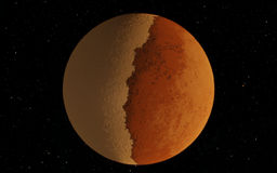 Mars  Scientific illustration -  planetary Stock Image