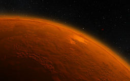 Mars  Scientific illustration -  planetary Royalty Free Stock Photos