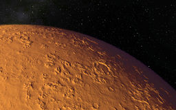 Mars  Scientific illustration -  planetary Stock Photos