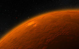 Mars  Scientific illustration -  planetary Stock Photo