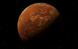 Mars  Scientific illustration -  planetary Royalty Free Stock Image