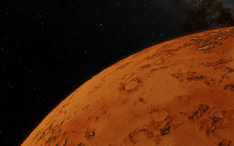 Mars  Scientific illustration -  planetary Royalty Free Stock Images