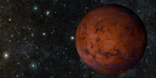 The Mars shot from space Stock Image