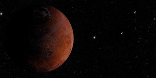 The Mars shot from space Royalty Free Stock Images