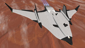 Mars Shuttle in Flight Stock Photo
