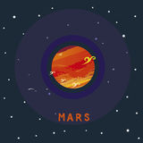 MARS space view Royalty Free Stock Photos