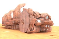 Mars Special Bucket-wheel excavators Royalty Free Stock Image