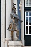 Mars-Statue am Palast von Queluz, Portugal Lizenzfreies Stockfoto