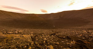 Mars surface crater pan stock footage