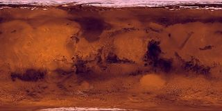 Mars Surface. Layout Map. Illustration. 3D rendering Stock Photo