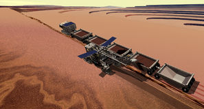 Mars Surface Miner. Equipment for mining surface haematite ore on Mars Stock Image