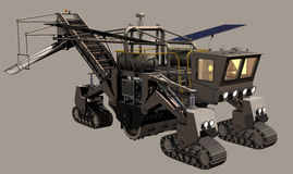 Mars Surface Miner on neutral background royalty free illustration