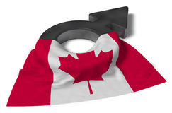 Mars symbol and flag of canada Stock Photos