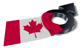 Mars symbol and flag of canada Stock Photo