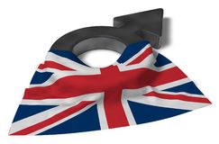 Mars symbol and flag of the uk Royalty Free Stock Photo